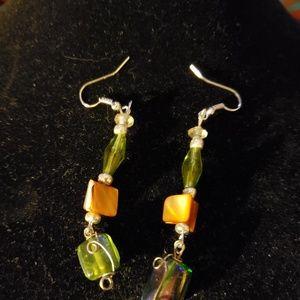 Jewelry - Handmade green earrings